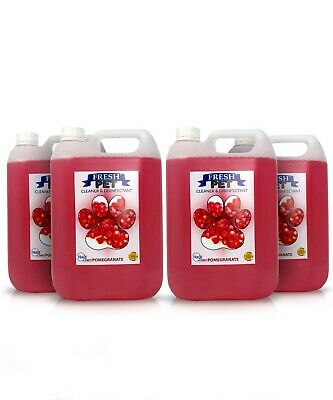 Pet Deodorising Disinfectant Cleaner & Protector 4 x 5L PREFILLED POMEGRANATE