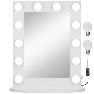Hollywood Makeup Vanity Mirror Lighted Makeup Mirror Beauty Dressing 12pcs Bulbs