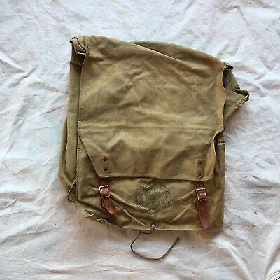 Vintage 1960's Boy Scout Back Pack With Utensils