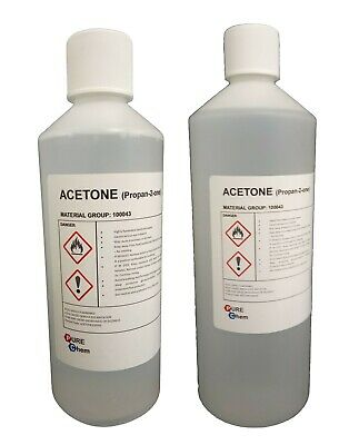 ACETONE 99.8% for nail varnish / false nail remover - MADE FOR SALONS