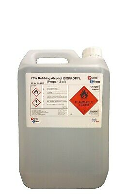 isoproopanol Rubbing Alcohol 70% IPA 5L JERRY CONTAINER