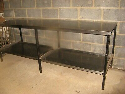 Stainless Steel Catering Prep table, with two under shelves.