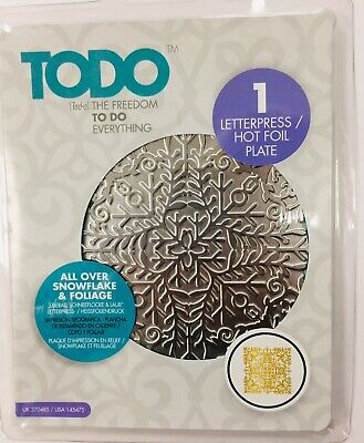 TODO All Over Snowflake & Foliage Letterpress HOT FOIL PLATE 370485