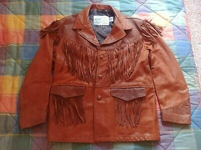 Giubbotto Vintage Kenny Rogers Leather Collection by Schott NYC - Original