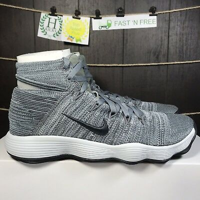 more photos 881f8 79882 Nike Hyperdunk 2017 Flyknit React Cool Grey Anthracite 917726 007 Size 11