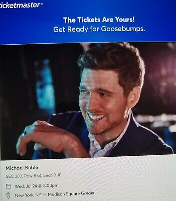 2 Tickets Section 203 Michael Buble 7/24/19 Madison Square Garden New York, NY