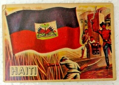 Vintage Haiti 1956 Topps Flags Of The World Printed In England Rare Collectible