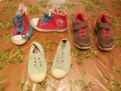 9f51da9ac18ee LOT 3 PAIRES chaussures basket fille Taille 28. - EUR 6