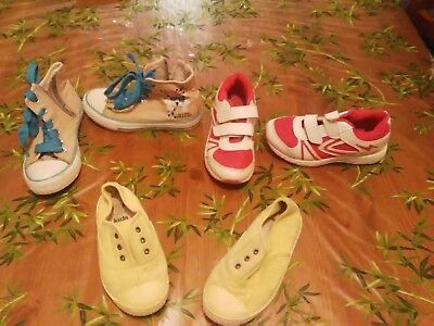 36861a6a84320 LOT 3 PAIRES chaussures basket fille Taille 28 - EUR 6