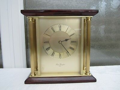 Robert Blandford 1873 Series Quartz Mantle Clock Mahogany/Rosewood Finish