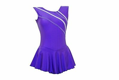 s107 Purple Sheen Metalic All Sizes Available - Skating Dress