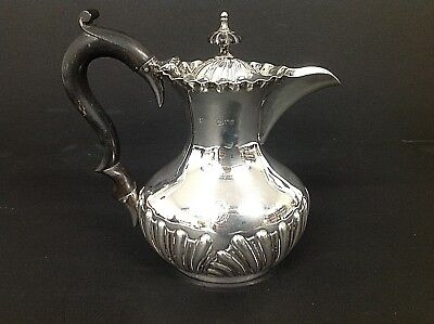 Edwardian Solid Sterling Hm Silver Water Jug Chester 1903