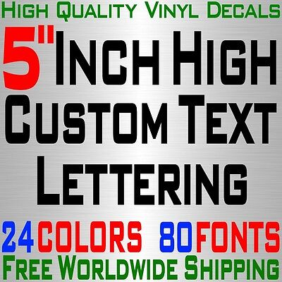 "Personalized 5"" Custom Text Name Vinyl Decal Sticker Car Wall 16x Lettering max"