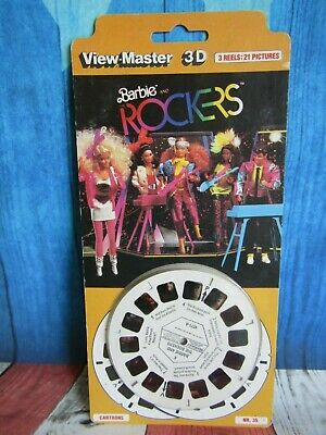 View Master 3D Barbie and the Rockers 3 Reels 21 Photos New Old Stock NR35