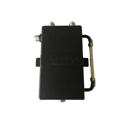 OBP 1 Litre Square Bulk Head Mount Dark Matter Oil Catch Tank With JIC Fittings