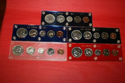 5 US Proof Sets 1960 Small Date, 1961,1962,1963,1964 90% Silver BU