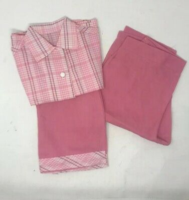 Vintage 1940s Girls3 Piece Striped Pink Outfit Sleeveless Shirt Pants & Shorts