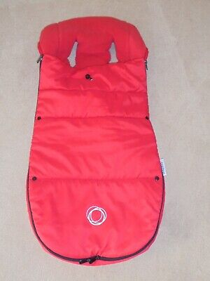 GENUINE  Bugaboo UNIVERSAL RED - Footmuff/Cosytoes Velcro back