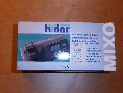 Hydor Mixo Digital Automatic Aquarium Fish Feeder Auto Timer Battery For Holiday