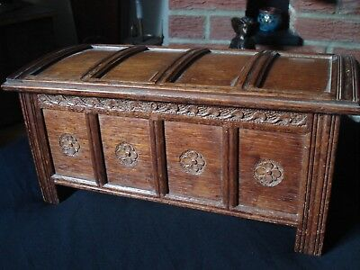 Stunning 1920 Miniature  Oak Chest (Signed & Dated)