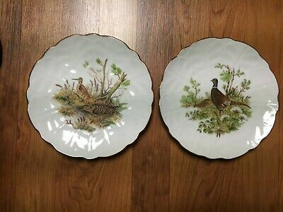 "Royal Staffordshire England 8"" Bone China Plate - Game Bird 2 Plate Set"
