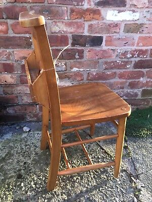 Two vintage church chairs