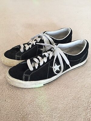 9af813ea2f7c Vtg Converse One Star Suede 1990 s Kurt Cobain Mens 11 Black All Star 90 s