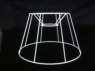 "French Drum Wire Lampshade Frame  22"" Base"