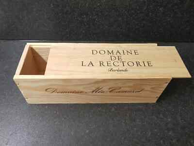 Single Bottle Size - Champagne / Wine Box with lid - Craft, Sewing, Storage box