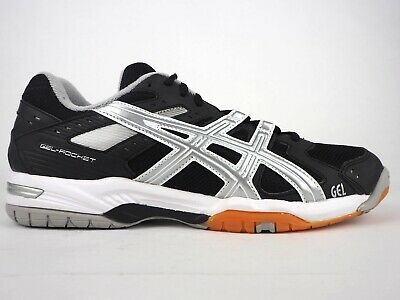 ASICS GEL ROCKET 6 B257N 9993 Black Silver Lace Up Trainers