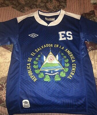 01f166281 El Salvador Futbol Football Blue Soccer W/Logo, Jersey Small Boys #8 New