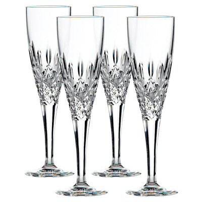 Royal Doulton Highclere Crystal Set Of 4 Flute Rrp $299