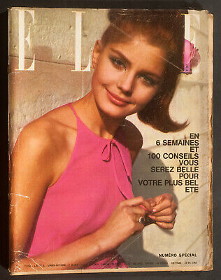 'elle' French Vintage Magazine Holiday Issue 10 May 1963