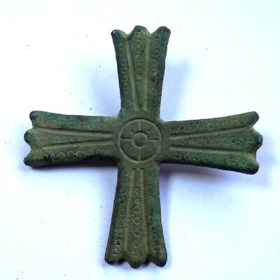 Ancient Artifact Bronze Byzantine Cross
