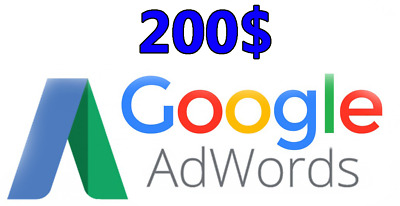 200$ Google Adwords Credit Limited offer (100$x2)
