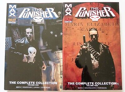 Punisher The Complete Collection Vol. 1 & 2 Marvel Graphic Novel Comic Book