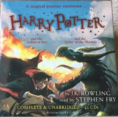 Harry Potter Books 4-5: Audio Collection - 41 CDs ** new and factory sealed *02*