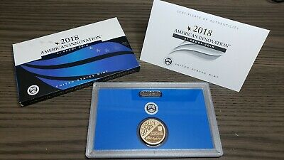 2018 S American Innovation $1 Proof Coin Set With US Mint Box and COA