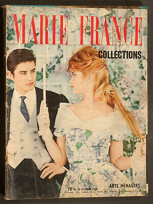 'marie-France' French Vintage Magazine Collections Issue March 1959
