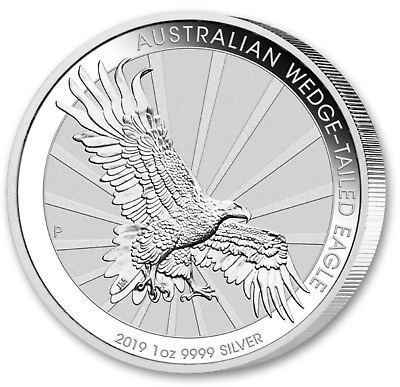 2019 WEDGE TAILED EAGLE 1$ Australie 1 Once argent .999 lingot $ silver oz ounce