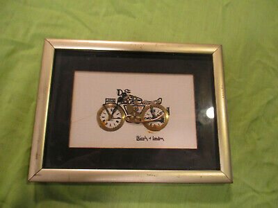L Kersh of London Framed Signed Watch Parts Horological Collage Motorcycle