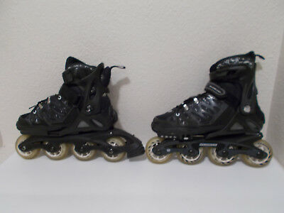 264eab34 Boys Rollerblade Spitfire Tw Black Inline Skates Adjustable Sizes 2 3 4 5  Youth