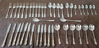 """Boxed Rodd """"Duchess"""" 44 Piece 6 Place Silver Plated Cutlery Set in VGC"""