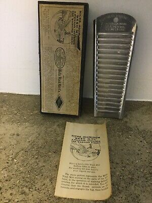 Rare Antique Hick's Wash Mitt Lingerie Washboard Wash Board Pat. 1916 Box Papers