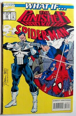 """What If #44 """"The Punisher Had Killed Spider-Man-Direct Edition-Never Read-VF"""