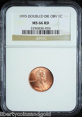 "1995 Lincoln Memorial Penny NGC MS 66 Red ""Double Die Obverse"""