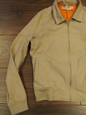 Vintage classic MOD sport style cotton Fred Perry Jacket unisex beige orange