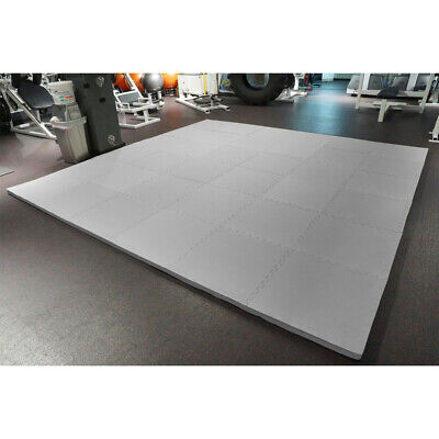 """MEISTER 1.5"""" PUZZLE FLOOR MATS *EXTRA THICK* Home Gym Play Foam Wrestling GRAY"""
