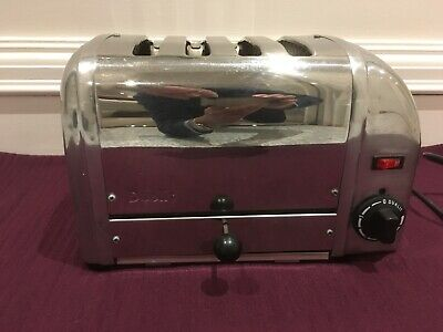 Dualit Classic Vario 40352 4 Slice Toaster Chrome High Lift Removable Tray