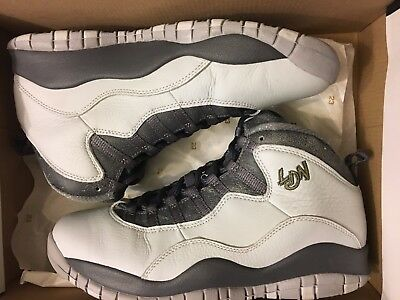 a4a8739cb70b Used Air Jordan 10 Retro London Grey Pure Platinum Shoe 310805-004 Mens  Size 8